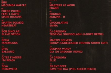 V.A.Africanism 2: Mixed Bob Sinclar&M.Solveig, FS-New, ITH(), , 2004 - 2CD - 91500 - 12,50 Euro