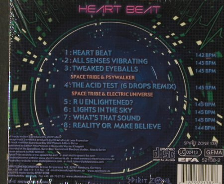 Space Tribe: Heart Beat, Digi, FS-NEU, SpiritZone(138), D, 2002 - CD - 91860 - 11,50 Euro
