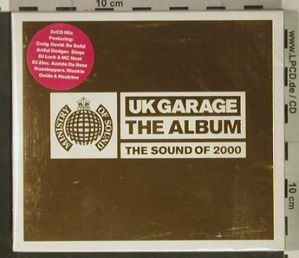 V.A.UK Garage - The Album: The Sound of 2000,FS-New, MinistryOS(), UK, 2000 - 2CD - 92445 - 11,50 Euro