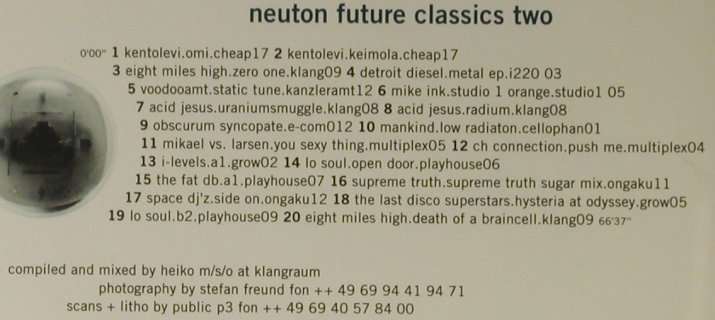 V.A.Neuton Future Classics Two: 19 Tr., Neuton(neufc02cd), D,  - CD - 95066 - 10,00 Euro