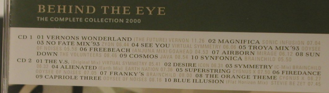 V.A.Behind The Eye: The Complete Collection 2000, WEA(), D, 20 Tr., 2000 - 2CD - 95613 - 10,00 Euro
