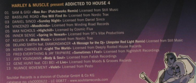 V.A.Addicted to House Vol. 4: Harley & Muscle pres., FS-New, Soulstar(), , 2005 - CD - 96327 - 10,00 Euro