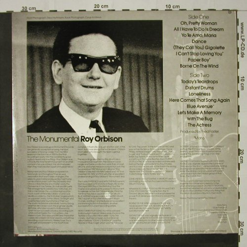 Orbison,Roy: The Monumental, Monument(MNT 69147), NL, 1975 - LP - C8756 - 6,00 Euro