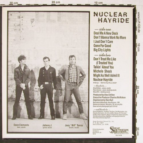 Johnny J.& The Hitmen: Nuclear Hayride, Great Southern Rec.(GS-11018), US, 1985 - LP - E2099 - 6,00 Euro