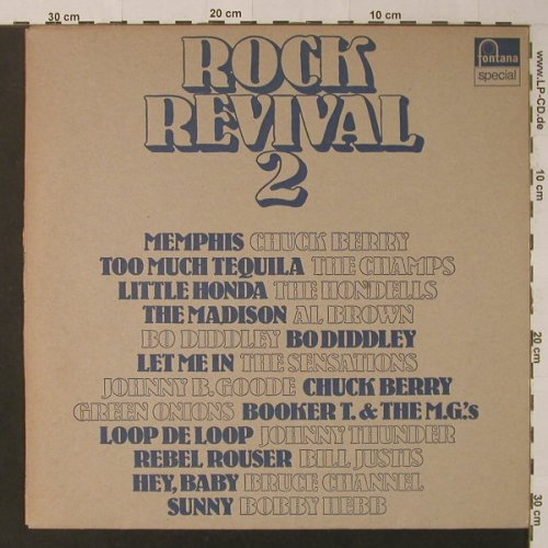 V.A.Rock Revival 2: Booker T..Bruce Channel, 12Tr., Fontana Special(6430 019), NL,vg+/vg+,  - LP - F4603 - 4,00 Euro