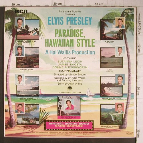 Presley,Elvis: Paradise, Hawaiian Style, RCA(26.21033 AS), D, Ri, 1966 - LP - F8131 - 7,50 Euro