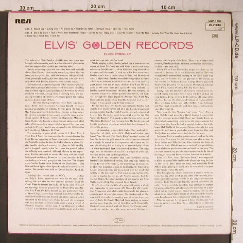 Presley,Elvis: Elvis' Golden Records 1 Volume 1,Ri, RCA Victor(26.21010), D, 1968 - LP - F8134 - 5,00 Euro