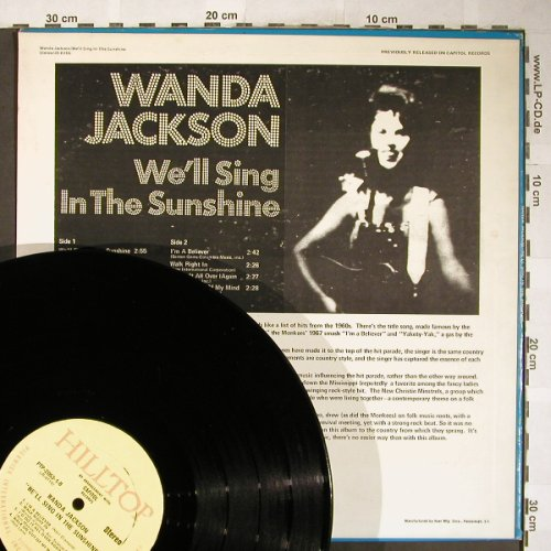 Jackson,Wanda: We'll sing in the Sunshine, VG+/vg+, Hilltop/Pickwick(PTP2053/JS-6116), US, Stol,  - LP - H5989 - 5,00 Euro