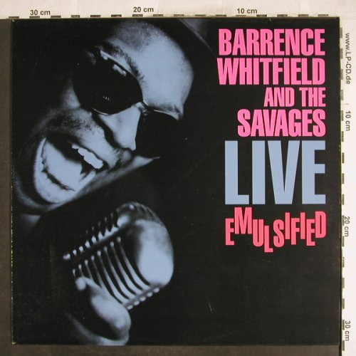 Whitfield,Barry and the Savages: Live-Emulsified, Zensor(ZS 95), D, 1989 - LP - H7164 - 6,50 Euro