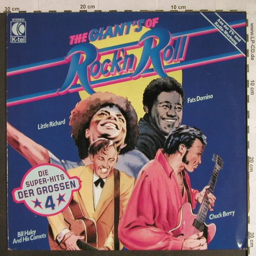 V.A.The Giants of Rock'n Roll: Little Ritchard,Domino,Haley,CBerry, K-tel(TG 1367), D, 1982 - LP - H954 - 5,50 Euro