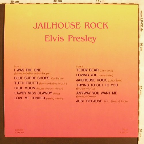 Presley,Elvis: Jailhouse Rock, All Round Trading(31022), DK, 1985 - LP - X3124 - 7,50 Euro