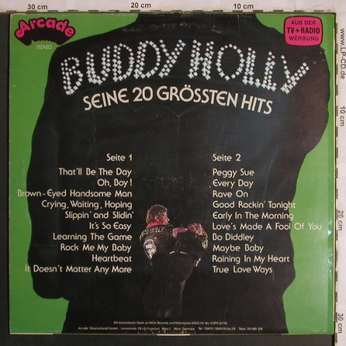 Holly,Buddy: Seine 20 Grössten Hits, Arcade(ADEG 32), D, 1977 - LP - X4397 - 5,00 Euro