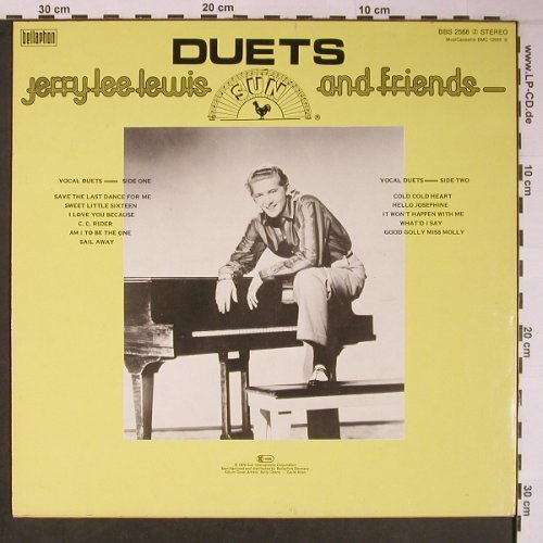 Lewis,Jerry Lee & Friends: Duets,Yellow Vinyl (feat.Elvis ?), Bellaphon(BBS 2568), D, 1978 - LP - X6080 - 9,00 Euro