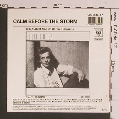 Money,Eddie: Take Me Home Tonight / Calm Before, CBS(650042 7), NL, 1986 - 7inch - S8225 - 3,00 Euro