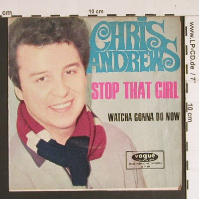 Andrews,Chris: Stop That Girl, vg+/vg+, Vogue(DV 14549), D, 1966 - 7inch - S8710 - 3,00 Euro