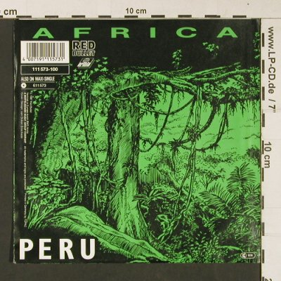 Peru: Africa *2 , promo stamp on label, Red Bullet(111 573-100), D, 1987 - 7inch - S9065 - 2,50 Euro