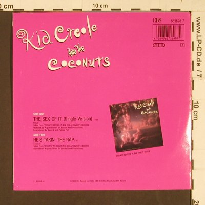 Kid Creole & Coconuts: The Sex Of It / He's takin' the Rap, CBS(655698 7), D, 1990 - 7inch - S9203 - 2,50 Euro