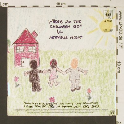 Hooters: Where Do The Children Go/Nervous Ni, CBS(A 7161), NL, 1986 - 7inch - S9243 - 2,50 Euro