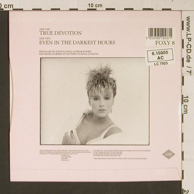 Fox,Samantha: True Devotion, Jive(Foxy 8), UK, 1987 - 7inch - S9270 - 3,00 Euro