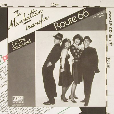 Manhattan Transfer: Route 66 / On the Boulevard, Atlantic(11 748), D, 1982 - 7inch - S9311 - 3,00 Euro