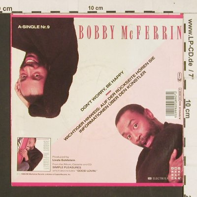 McFerrin,Bobby: Don't Worry Be Happy, Electrola(20 2890 7), EEC, 1988 - 7inch - S9313 - 2,50 Euro