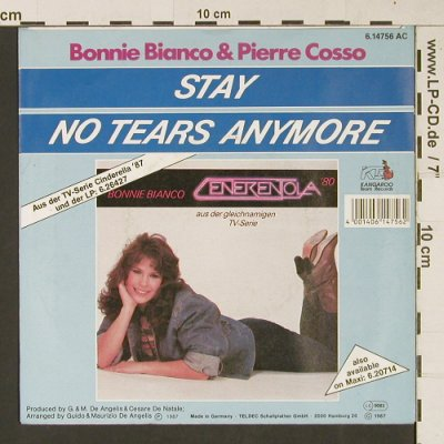Bianco,Bonnie & Cosso,Pierre: Stay, Kangaroo Tem Rec.(6.1476 AC), D, 1987 - 7inch - S9437 - 1,50 Euro