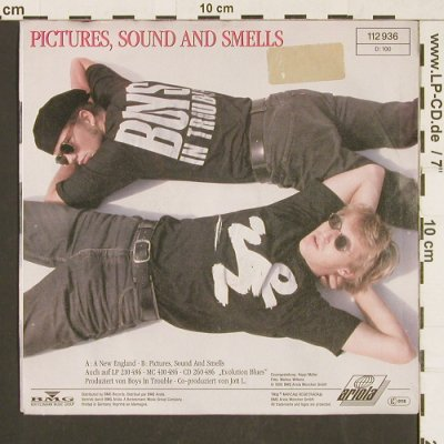 Boys in Trouble: A new England / Pictures,Sound and., Ariola(112 936), D, 1990 - 7inch - S9574 - 3,00 Euro