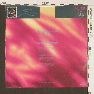 Erasure: Chains Of Love, rmx / Don't suppose, Mute 83(111.863), D, 1988 - 7inch - S9820 - 2,50 Euro