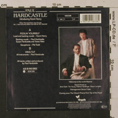 Hardcastle,Paul: Foolin' yourself / King Tut, Chrysalis(108 338), D, co, 1986 - 7inch - T1215 - 2,50 Euro
