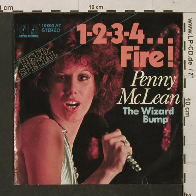 McLean,Penny: 1-2-3-5...Fire ! / The Wizard Bump, Jupiter(16 666 AT), D, 1976 - 7inch - T1413 - 2,50 Euro