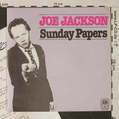 Jackson,Joe: Sunday Papers/Look Sharp!+Biography, AM(AMS 6898), D, 1979 - 7inch - T1460 - 3,00 Euro