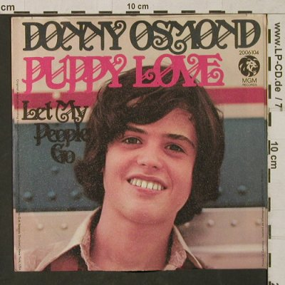 Osmond,Donny: Puppy Love/Let My People Go, MGM(2006 104), D,m-/vg+, 1972 - 7inch - T1470 - 2,50 Euro