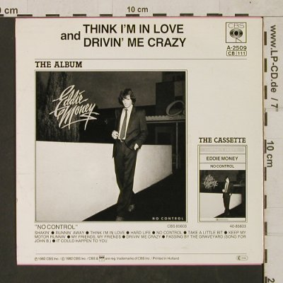 Money,Eddie: Think I'm in Love/Drivin' Me Crazy, CBS(CBSA-2509), NL, 1982 - 7inch - T1486 - 3,00 Euro