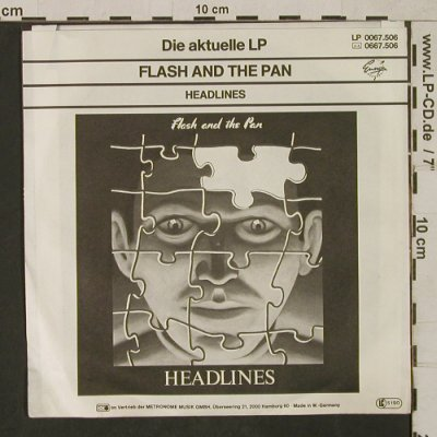 Flash And The Pan: Where Were You / Don't vote, Ensign(0037.505), D, m /vg+, 1982 - 7inch - T1670 - 3,00 Euro