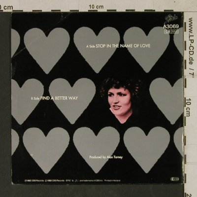 Dickson,Barbara: Stop in the Name of Love, m /vg+, Epic(EPCA 3069), NL, 1982 - 7inch - T1710 - 3,00 Euro