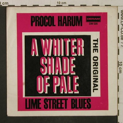 Procol Harum: A Whiter Shade Of Pale/LimeSt.Blues, Deram(DM 126), D,  - Cover - T2078 - 1,50 Euro