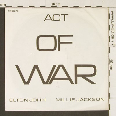 John,Elton & Jackson,Millie: Act Of War Part 1 / Part 2, m-/vg+, Phonogram(880 882-7), D, 1985 - 7inch - T214 - 2,00 Euro