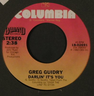 Guidry,Greg: Goin' Down/Darlin' It's You, FLC, Columbia/Promo-Stol(18-02691), US, 1982 - 7inch - T2178 - 1,50 Euro