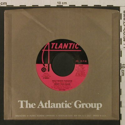 Paul Band, Henry: Hollywood Paradise/Keeping Our Love, Atlantic(3883), US, FLC, 1981 - 7inch - T2198 - 2,50 Euro