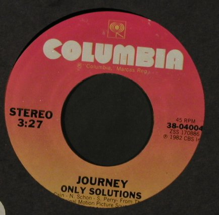 Journey: After The Fall / Only Solutions,FLC, Columbi/Promo Stol(38-04004), US, 1983 - 7inch - T2208 - 4,00 Euro