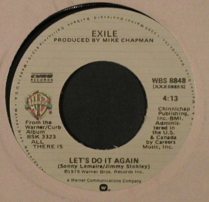Exile: The Part Of Me That Needs You Most, WB/Reprise(WBS 8848), US, FLC, 1979 - 7inch - T2220 - 2,50 Euro