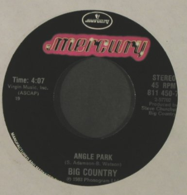Big Country: Angle Park / Fields Of Fire, LC, Mercury(811 450-7), US, 1983 - 7inch - T2224 - 3,00 Euro