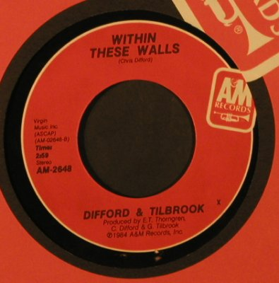 Difford & Tilbrook: PickingUpThePieces/WithinTheseWall, AM(AM-2648), US, FLC, 1984 - 7inch - T2237 - 2,00 Euro