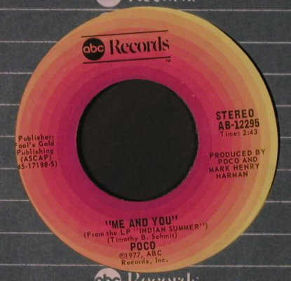 Poco: Indian Summer / Me And You, FLC, ABC(AB-12295), US, 1977 - 7inch - T2246 - 2,50 Euro