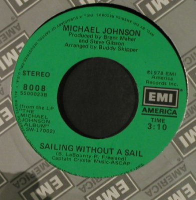 Johnson,Michael: SailingWithoutASail/WhenYouComeHome, EMI(8008), US, FLC, 1978 - 7inch - T2251 - 1,50 Euro