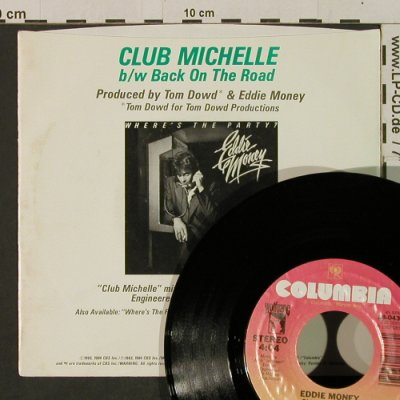 Money,Eddie: Club Michelle / Back On The Road, Columbia(38-04376), US, 1983 - 7inch - T2350 - 3,00 Euro