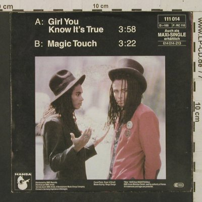 Milli Vanilli: Girl You Know It's True/Magic Touch, Hansa(111 014), D, 1988 - 7inch - T2451 - 3,00 Euro