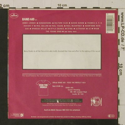 Band Aid: Do They Know It'sChristmas?, Mercury(880 502 - 7Q), D, 1984 - 7inch - T2625 - 3,00 Euro
