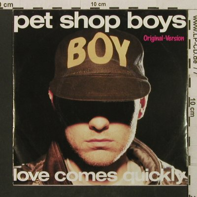Pet Shop Boys: LoveComesQuickly/That'sMyImpression, Parlophone(20 1105 7), D, 1986 - 7inch - T2754 - 2,50 Euro