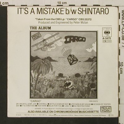 Men At Work: It's A Mistake /  Shintaro, Columbia(A-3475), NL, 1983 - 7inch - T2770 - 2,00 Euro